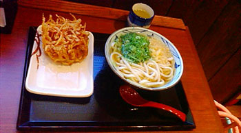 お昼に食べた丸亀製麺のうどん